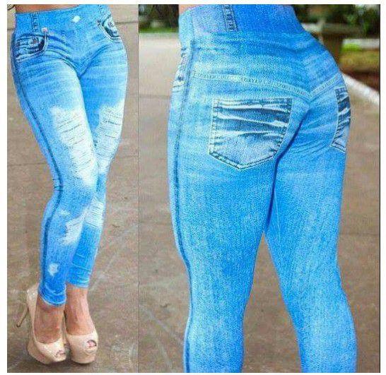 Calças Leggins Jeans Empina o BumBum e Define sua Silhueta 10 Peças