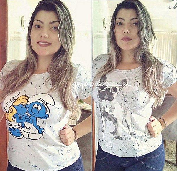 T Shirt Feminina Rock One - 5 Peças