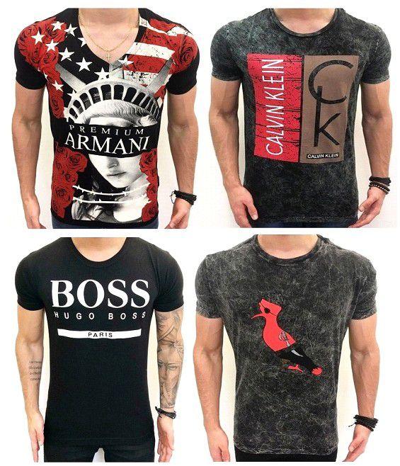 Camisetas Regatas Malha fio 30.1 Penteada Mascas e Cores Variadas ... cfd645a70d4