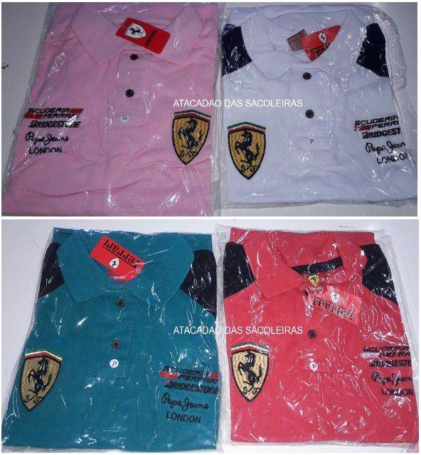 Polo Ferrari Malha Piquet - 12 Peças
