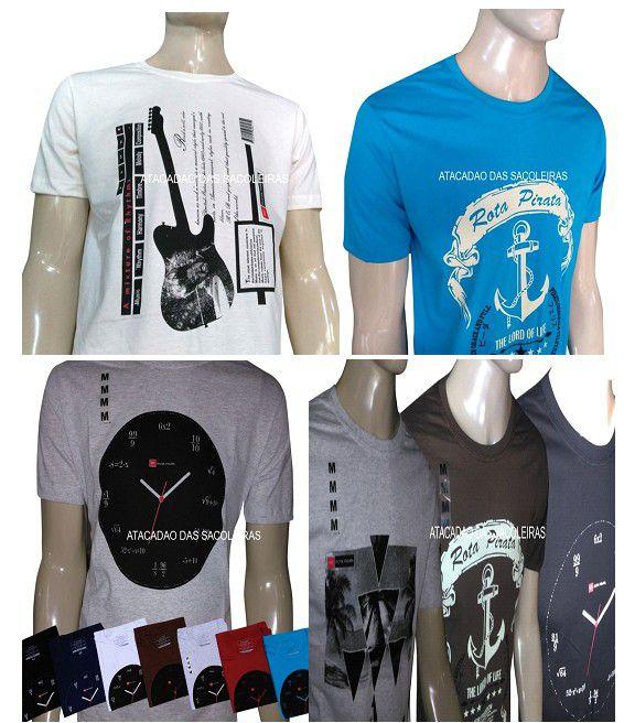 Camiseta Ancora Material: Malha Fio 30.1 - 12 Peças
