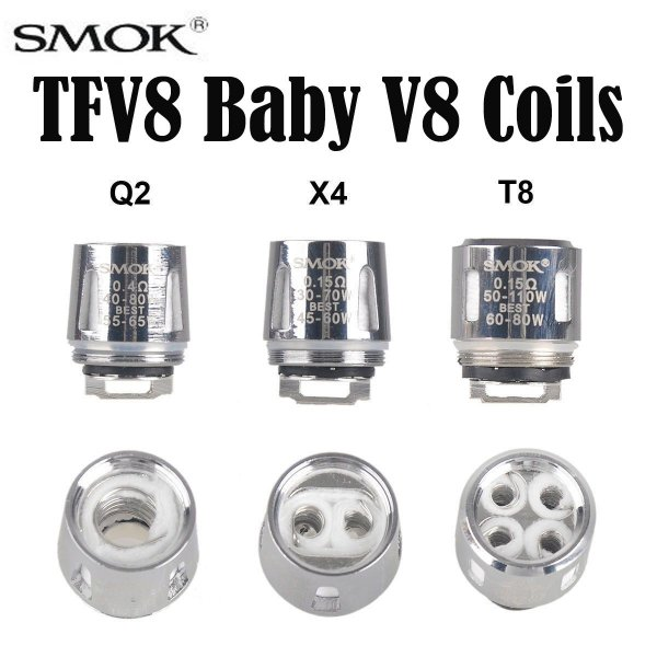Smok TFV8 Baby - X4 0.15 ohms Coil Head