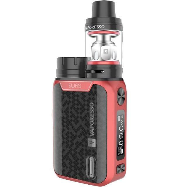 VAPORESSO SWAG Vape Starter Kit 80w TC 2ml NRG Tank - RED