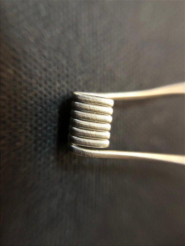 DualCore Fused Clapton 3mm -  2*28+38, 0.28ohms em dual (PAR) - Fabretti Coil