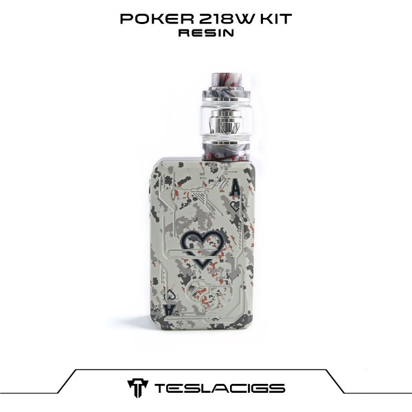 Tesla Poker 218 Kit com Tank Resin - Branco