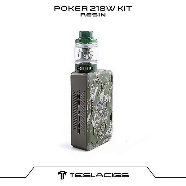 Tesla Poker 218 Kit com Tank Resin - Verde