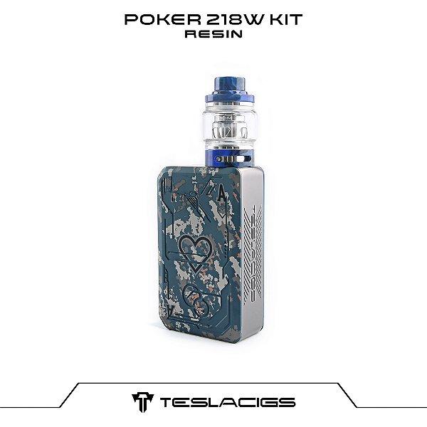 Tesla Poker 218 Kit com Tank Resin - Azul