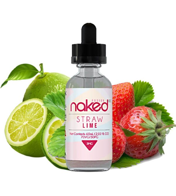 Straw Lime 60ml 0mg Naked