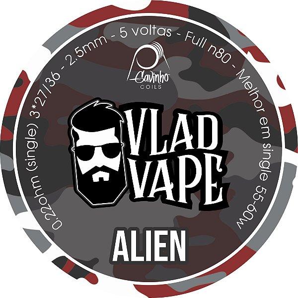 Vlad Coil - ALIEN - (3*27/36)  2,5mm - NI80 - 0.22ohms (Single) - 1 Par