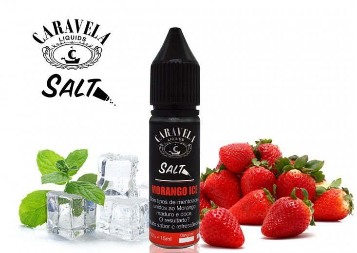Morango Ice Salt - 35mg - 15ml | Caravelas