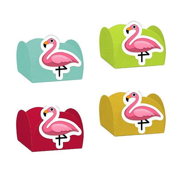 Forminha para Doces Flamingo com 12 unidades