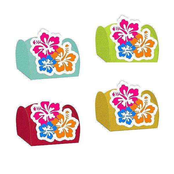 Forminha para Doces Flor Havaiana com 12 unidades