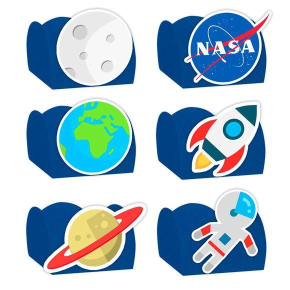 Forminha para Doces Festa Astronauta Sortido 24 Unidades - Lembrafesta