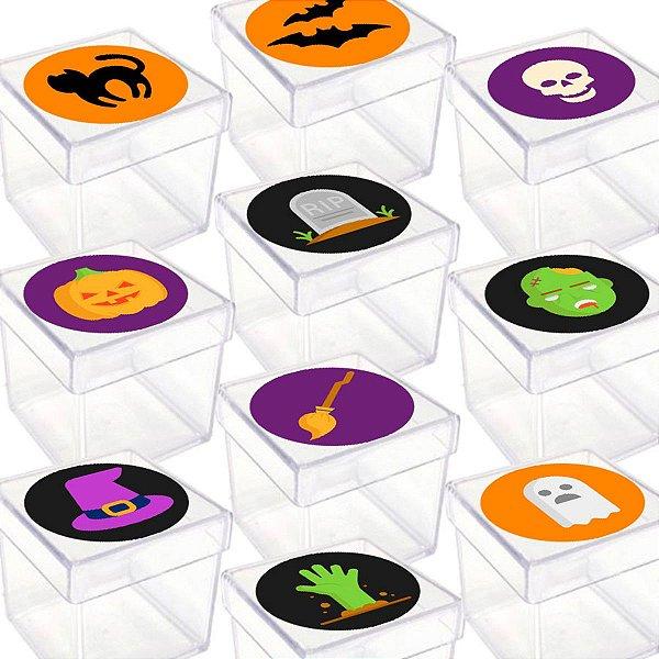 Caixinha Acrílica para Lembrancinha Festa Halloween com 20 unidades Lembrafesta