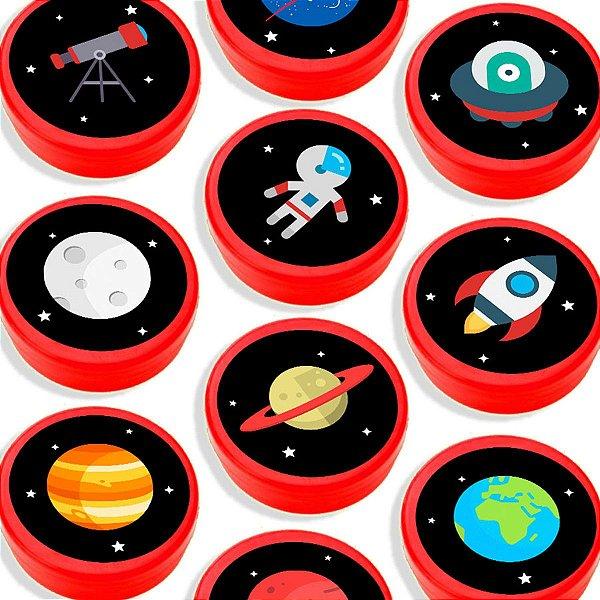 Latinha para Lembrancinha Festa Astronauta - Vermelha - 20 unidades - Lembrafesta