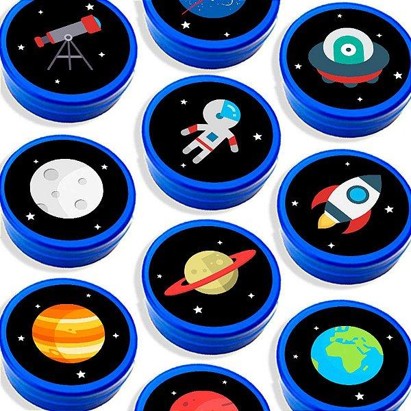 Latinha para Lembrancinha Festa Astronauta - Azul - 20 unidades - Lembrafesta
