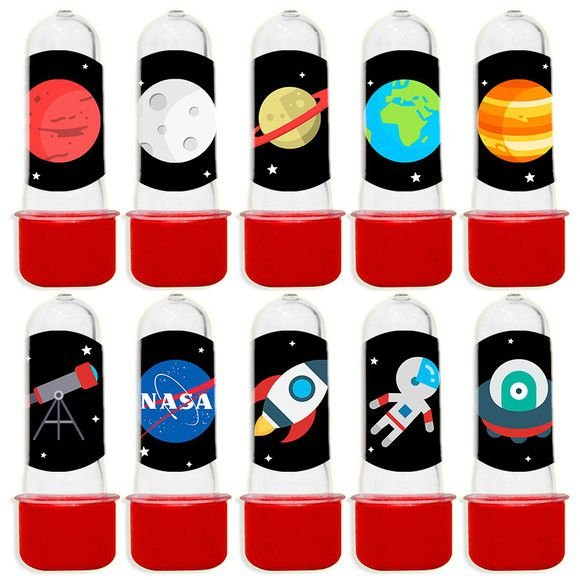 Mini Tubete para Lembrancinha Festa Astronauta - Vermelha - 20 unidades - Lembrafesta