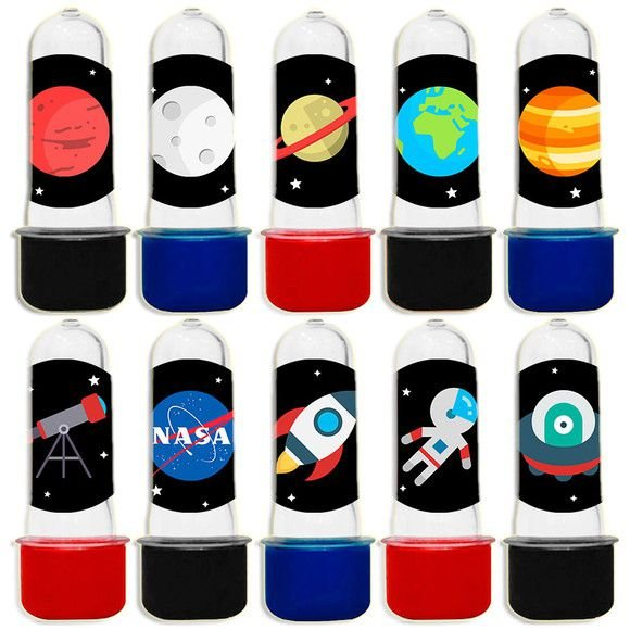 Mini Tubete para Lembrancinha Festa Astronauta - Sortida - 20 unidades - Lembrafesta