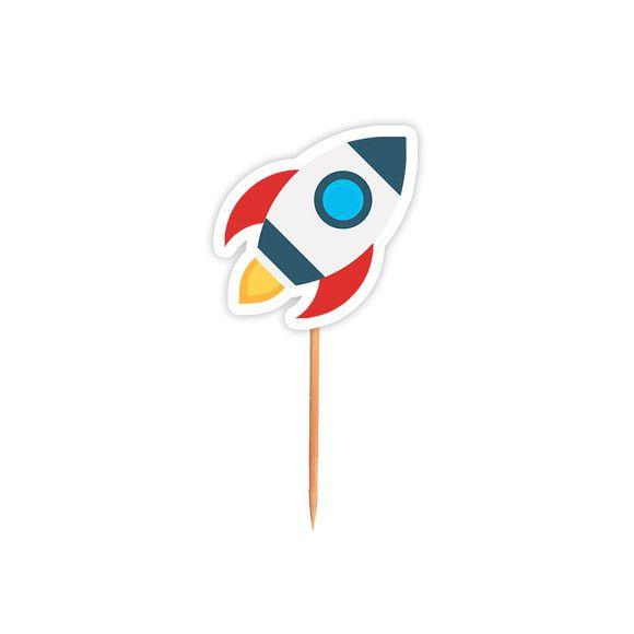 Topper para Docinhos Festa Astronauta - Foguete - 24 unidades - Lembrafesta