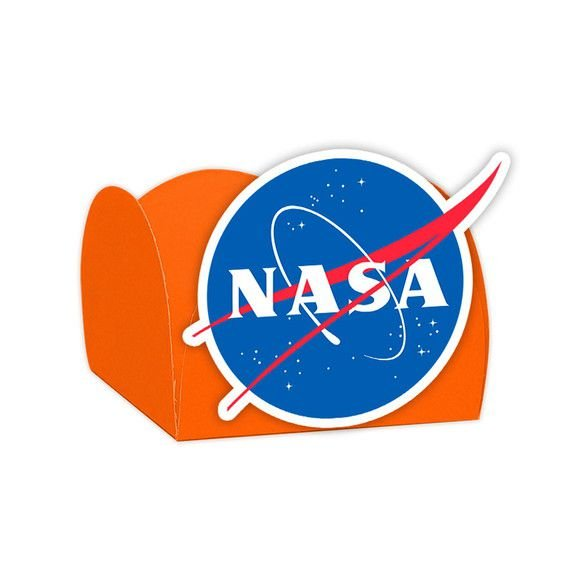 Forminha para Doces Festa Astronauta - Laranja - Nasa - 24 Unidades - Lembrafesta