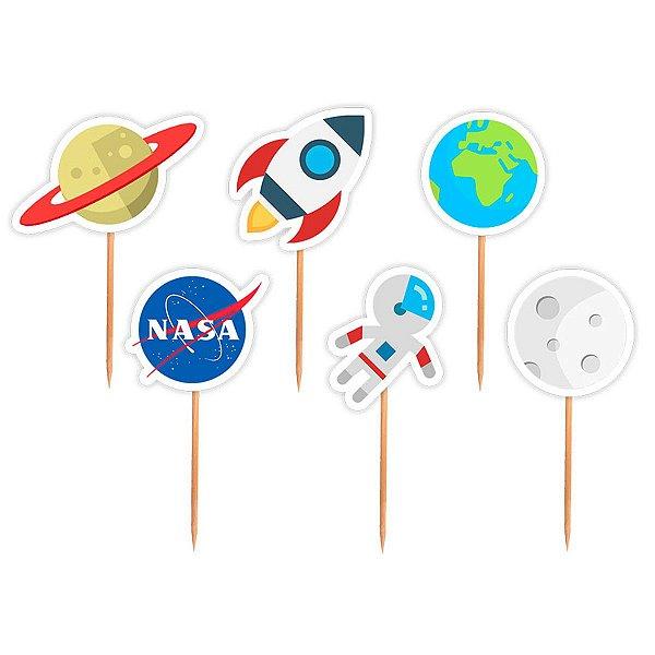 Topper para Docinhos Festa Astronauta - Astronauta - 24 unidades - Lembrafesta