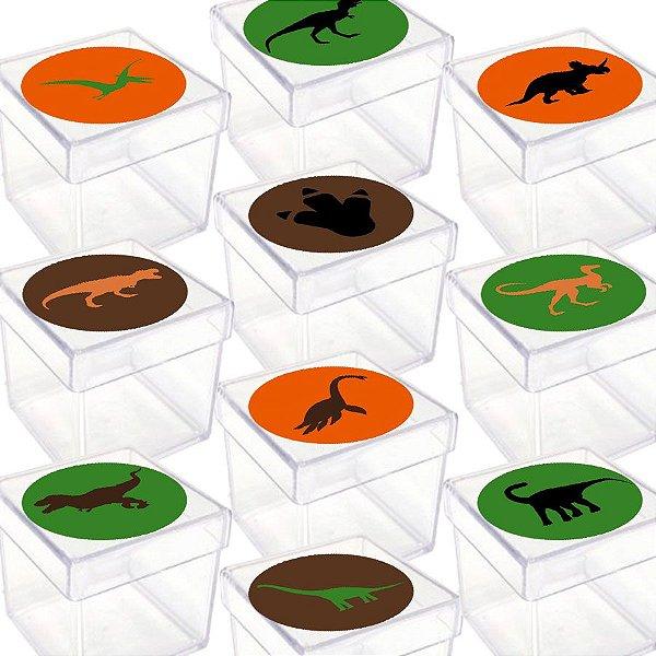 Caixinha Acrílica para Lembrancinha Festa Dinossauro - 20 Unidades - Lembrafesta
