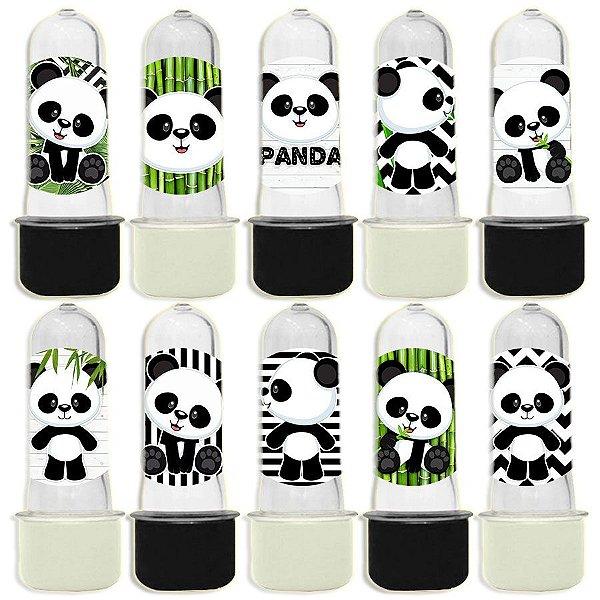 Mini Tubete para Lembrancinha Festa Panda - Sortida - 20 unidades - Lembrafesta
