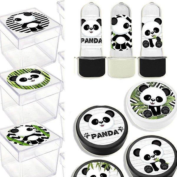 Kit Lembrancinhas Festa Panda para 20 Convidados - 60 Itens - Lembrafesta