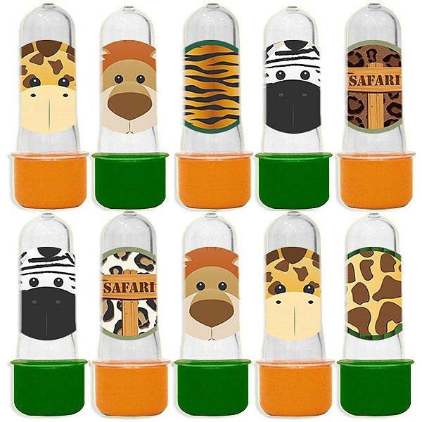 Mini Tubete para Lembrancinha Festa Safari - Sortida - 20 unidades - Lembrafesta