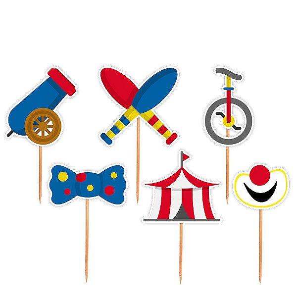 Topper para Docinhos Festa Circo - Sortido - 24 unidades - Lembrafesta