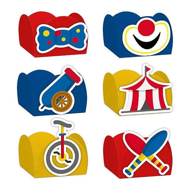 Forminha para Doces Festa Circo - Sortido - 24 Unidades - Lembrafesta