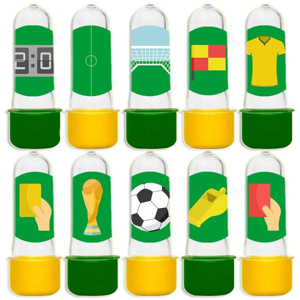Mini Tubete para Lembrancinha Festa Futebol - Sortida - 20 unidades - Lembrafesta