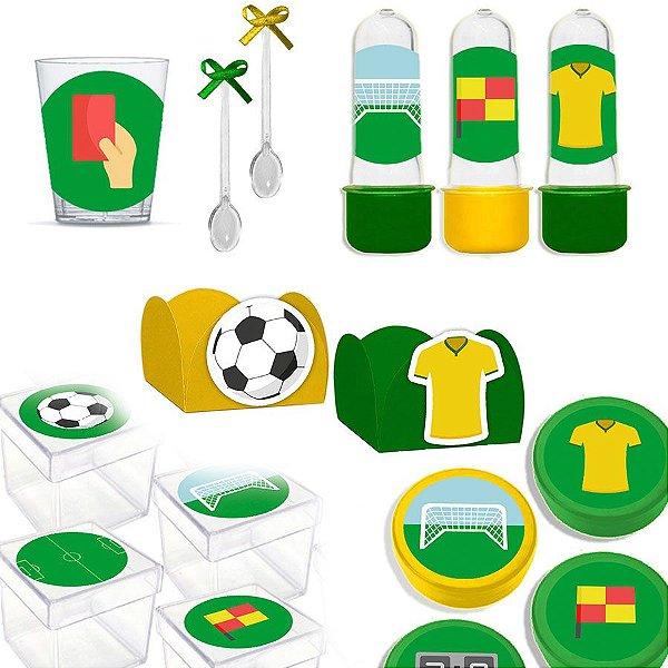 Kit Lembrancinhas Festa Futebol para 30 Convidados - 200 Itens - Lembrafesta