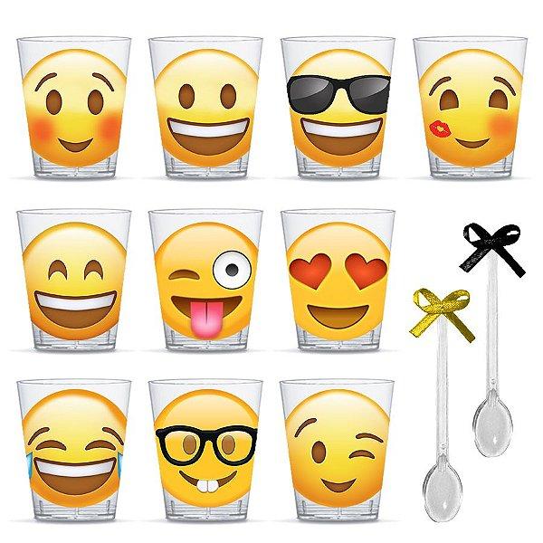 Copinho para Doces com Colher Festa Emoji com 20 unidades Lembrafesta