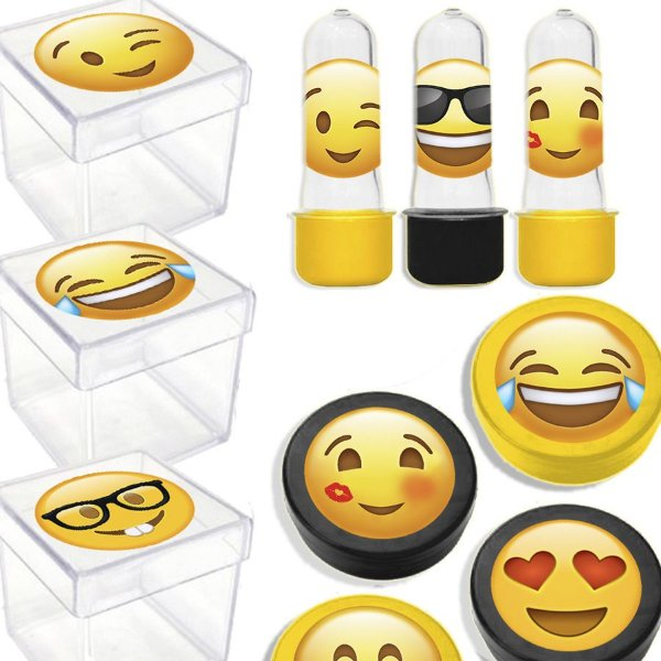 Kit Lembrancinhas Festa Emoji para 20 Convidados - 60 Itens - Lembrafesta