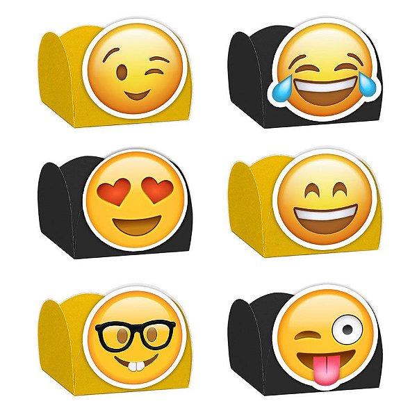 Forminha para Doces Festa Emoji - Sortido - 24 Unidades - Lembrafesta
