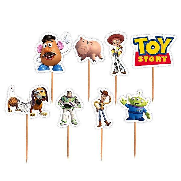 Topper para Docinhos Festa Toy Story - Sortido - 24 unidades - Lembrafesta