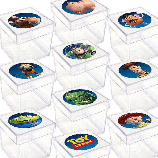 Caixinha Acrílica para Lembrancinha Festa Toy Story - 20 Unidades - Lembrafesta