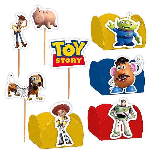 Kit Decoração Festa Toy Story - 100 Itens - Lembrafesta