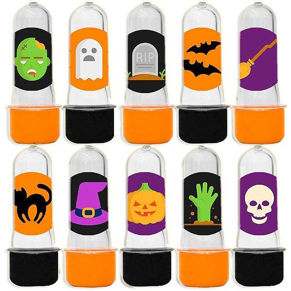Mini Tubete para Lembrancinha Festa Halloween - Sortida - 20 unidades - Lembrafesta
