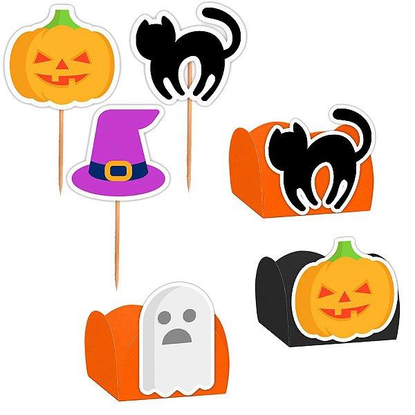 Kit Decoração Festa Halloween - 100 Itens - Lembrafesta
