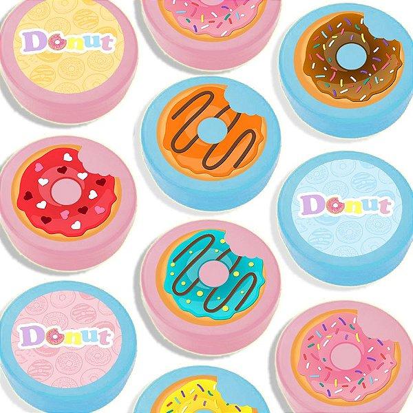 Latinha para Lembrancinha Festa Donuts - Sortida - 20 unidades - Lembrafesta