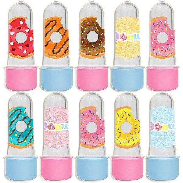 Mini Tubete para Lembrancinha Festa Donuts - Sortida - 20 unidades - Lembrafesta