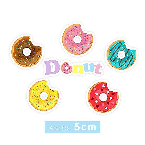 Apliques Decoração Festa Donuts sortidos - Aprox. 5cm - 24 Unidades