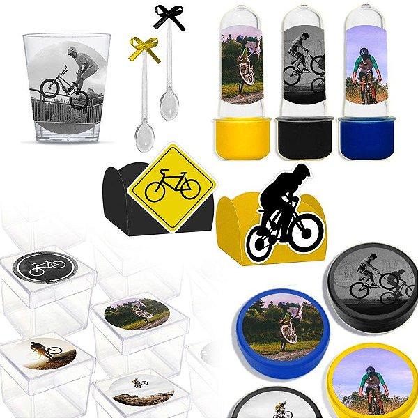 Kit Lembrancinhas Festa Bicicleta 200 itens para 30 Convidados - Lembrafesta