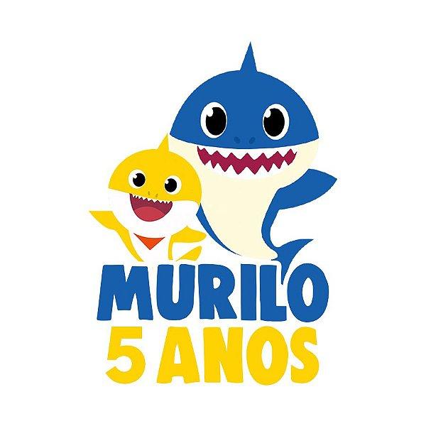 Topo de Bolo Festa Baby Shark - 01 unidade - Lembrafesta
