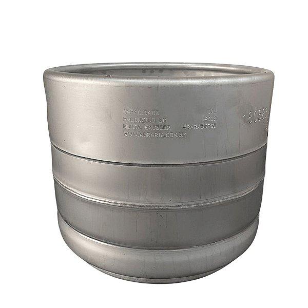 Barril de Chopp Tipo S - Aço Inox - 10 Litros - Penglai com válvula micromatic