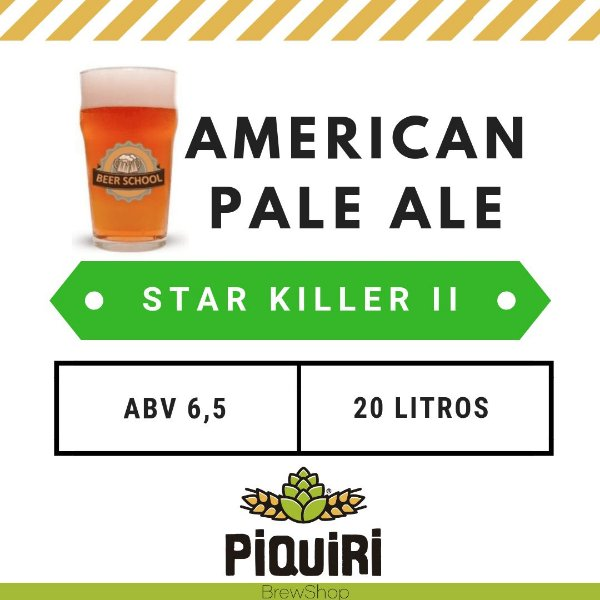 Kit receitas cerveja artesanal 20L Star Killer II (Beer School)
