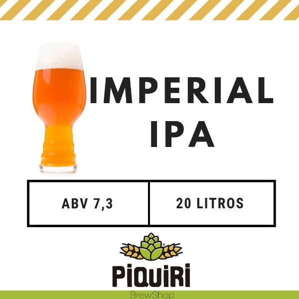 Kit receitas cerveja artesanal 20L Imperial IPA