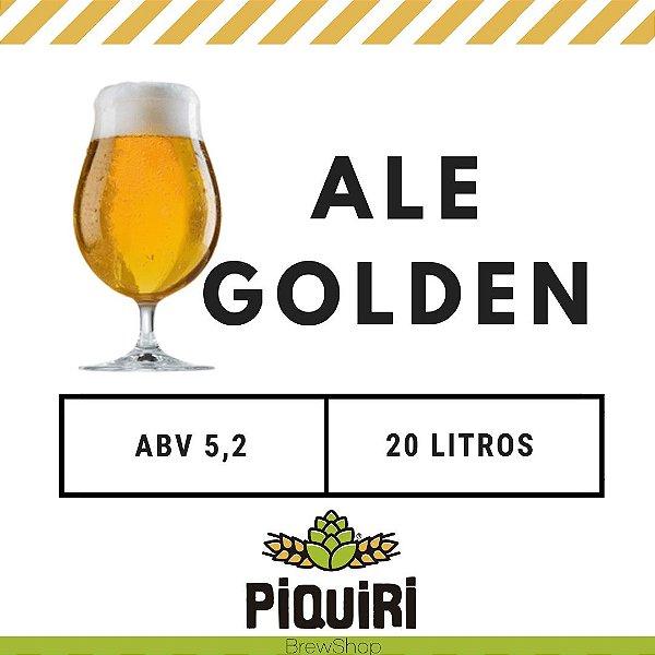 Kit receitas cerveja artesanal 20L Ale Golden